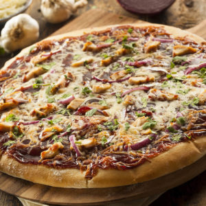 Grilled chicken, bbq sauce, mozzarella cheese