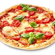 Sliced tomatoes, fresh mozzarella and basil